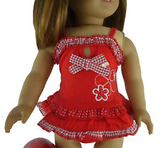"""Red Swimsuit Bathing Suit fits 18"""" American Girl Doll Clothes Sew Beautiful"""