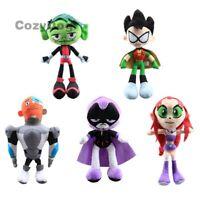 New Teen Titans Go Plush Robin Raven Beast Boy Cyborg Starfire Stuffed Dolls Toy