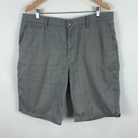 Quiksilver Mens Shorts 36 Grey Bermuda Zip Closure Pockets