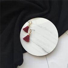 1Pair New Women Short Style Tassel Pendent Gold Ring Stud Earring Jewelry Gift