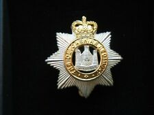 More details for the devonshire regiment officers presentation cap badge + box birmingham mint