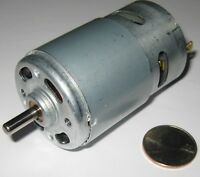 100 Watt Electric 12 VDC Motor w/ Fan - 15,000 RPM - 775 Frame Size Robot Hi RPM