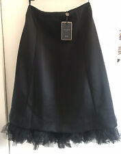 💎 New Ted Baker Black Tux Evening Occasion Midi Skirt Size 12💎