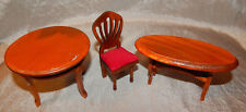 Vintage Dollhouse Miniatures 1:12 Scale Side Tables & Chair #059