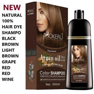 Natural Hair Color Ammonia Free Shampoo Cover Gray Permanent Hair Dye Colour