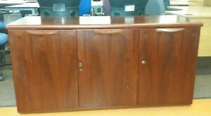 Mahogany Office Credenza Sideboard 1490mm x 555mm height 750mm