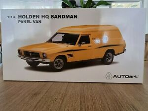 1:18 Biante Holden HQ Sandman Panel Van 308 in Chrome Yellow with opening parts