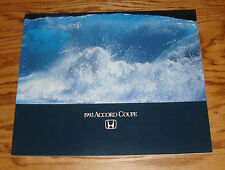 Original 1993 Honda Accord Coupe Deluxe Sales Brochure 93