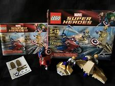 LEGO 6865 Marvel Superheroes The Avengers  Captain America's Avenging Cycle EUC!