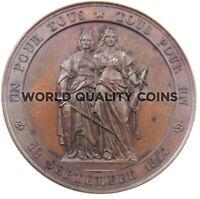 Swiss 1864 Medal 50th Anniversary Geneva's Realignment w Switzerland NGC MS63 BN