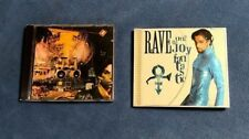 (LOT OF 2) PRINCE CD~~~RAVE UN2 THE JOY FANTASTIC (w/POSTER) & SIGN O THE TIMES