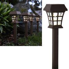 Braune LED Solar Leuchte 37cm Solarlampe Garten-Balkon-Leuchten Laterne braun