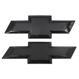 2015-2019 Chevy SILVERADO 2500HD / 3500HD All Black Bowtie Emblems Front & Rear