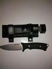 GERBER BIG ROCK  KNIFE Fine Edge Custom leather sheath