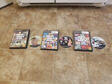 Lot of 3! Playstation 2 PS2 Games Grand Theft Auto 3, San Andreas, Vice City GTA