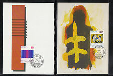 US ) 2 Maxi Cards Liechtenstein - Europe 1993: Fine Art