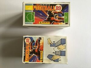 Panini Football 89 2x Empty Boxes