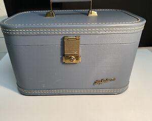 Vintage Ladies Train Case Baltimore Luggage, Blandon, Lady Baltimore Blue