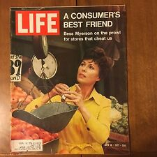 LIFE Magazine~July 16 1971~Bess Myerson - Miss America~3 Soviet Heroes ~70's Ads