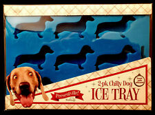 Pleasantville 2 Pack Chilly Dog Silicone Ice Trays Dachshund Shaped Cubes FUN!