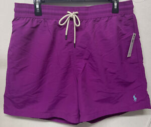 Polo Ralph Lauren Traveler Swim Trunks Shorts Men's NWT Size XLarge Purple