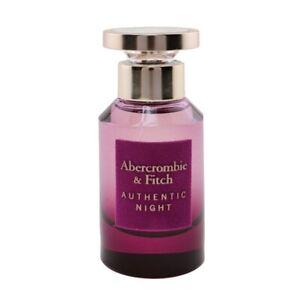 NEW Abercrombie & Fitch Authentic Night EDP Spray 50ml Perfume