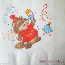 SHIRT TALES Rick Raccoon LARGE NAPKINS (16) ~ Vintage Birthday Party Supplies