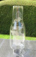 "Straight Sided Glass Oil Lamp Chimney/Funnel 36mm 1 3/8"" Fitter 17.8cm 7"" high"