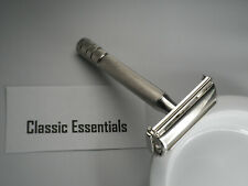 Vintage Gillette Super Speed safety razor replated in Rhodium.