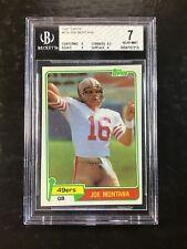 JOE MONTANA 1981 TOPPS FOOTBALL CARD #216 BGS NEAR MINT 7 49ERS HALL OF FAME