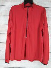 Nike Dri-Fit 1/2 Zip Pullover Red Jacket Running Shirt Men's Medium M Light