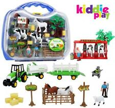 Farm Play Set Kids Toddler Toy Animal Cow Milk Pretend Learn Gift Boy Girl NEW