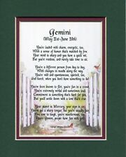 Gemini Horoscope Astrological Sign Poem Gift For 16th 18th 21st 30th Birthday