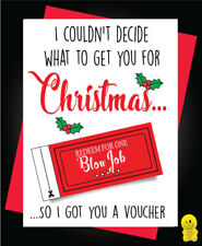 Funny Rude Christmas Card - Voucher	XM100