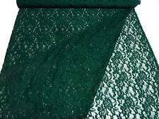 ☻ Stoff Stretch Spitze Spitzenstoff mit Blumenmuster tannengrün dunkelgrün ☻