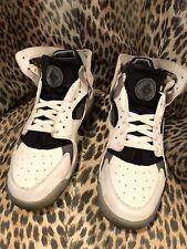 Nike Air Huarache Flight Sneakers Mens Sz 10.5 White Cool Grey 705005-100
