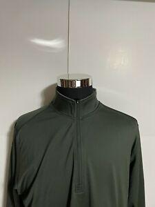 Adidas Golf Mens Gray 1/4 Zip Long Sleeve Pullover Top Shirt Sweater L