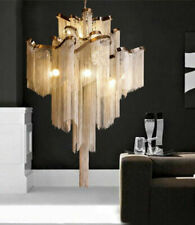 Contemporary LED aluminum chain hanging lamp chandelier household chain lighting