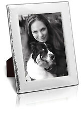 "Solid Silver Photo Frame / Photograph Frame (10 X 8"") Hammered Finish By Carr's"