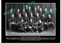 OLD POSTCARD SIZE PHOTO OF UNIVERSITY OF MICHIGAN FOOTBALL TEAM 1920