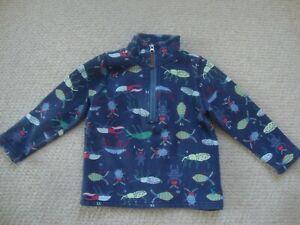Joules boy's sweatshirt age 2 years - bugs, minibeasts, beetles