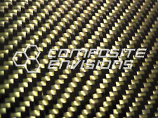 """Carbon Fiber Panel Made with Kevlar Yellow .022""""/.56mm 2x2 twill-24""""x48"""""""