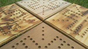 *** HANDMADE *** REAL WOOD *** WAHOO BOARD with marbles & dice *** 4 player ***