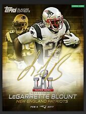 Topps Huddle Super Bowl LI Contest Gold Signature Award LeGarrette Blount 5cc
