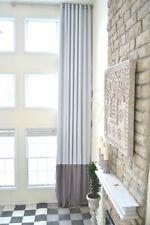 Extra Long blackout curtain custom made drape Gray/white 16, 17, 18, 20, 24 feet