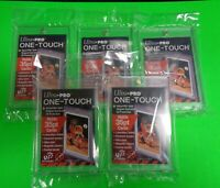 (5) Ultra Pro One Touch Magnetic Card Holder (Fits up to 35pt Baseball Cards)