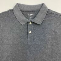 Goodfellow & Co. Loring Polo Shirt Men's 2XL XXL Short Sleeve Gray Standard Fit