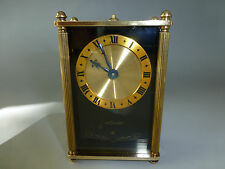 EXC VINTAGE JAEGER LECOULTRE 8 DAY REUGE MUSIC ALARM CLOCK - ( WATCH THE VIDEO)
