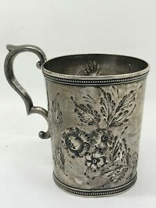 Early Tifft & Whiting Pure Silver Coin Cup / Mug