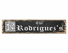 SP0446 The RODRIGUEZ'S Family name Plate Sign Bar Store Cafe Home Chic Decor